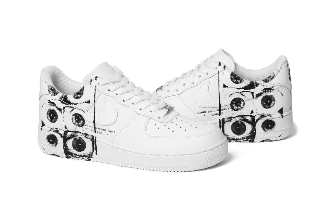 supreme x cdg x nike air force 1
