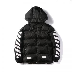 Best-Version-New-Arrival-2016-Fall-Winter-Off-White-Warm-Down-Jacket-Camouflage-Green-Striped-Long