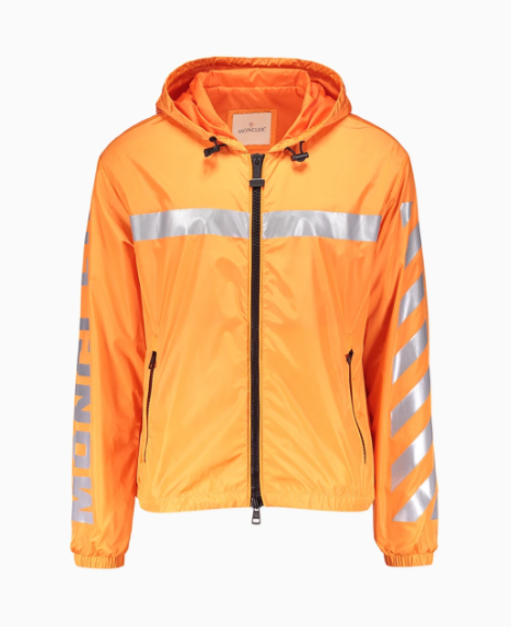 moncler orange windbreaker