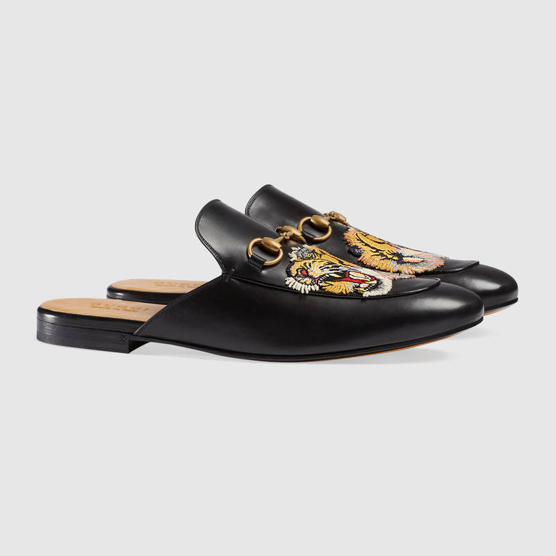 89a648e561c ... 448562 DKHH0 1063 355 Gucci Princetown Floral Embroidered Slippers- Size  35.5. Gucci - Gucci Princetown Velvet Slippers