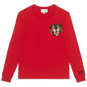 GUCCI ANGRY CAT SWEATER red sweater best replica