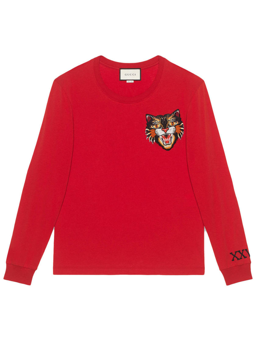 017016b759a GUCCI ANGRY CAT SWEATER red sweater best replica