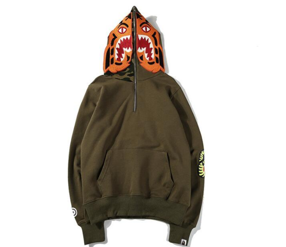 Bape Tiger Hoodie Brown Camo Supreme Fake Replica