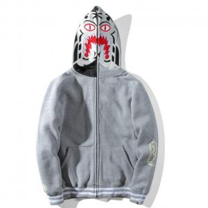 Unisex Bape Hoodie Embroidery luminous Tiger Head Zipper A Bathing Ape Jacket