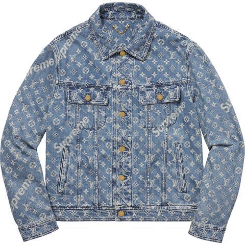 Supreme X Louis Vuitton Denim Jacket Best Price Jacket