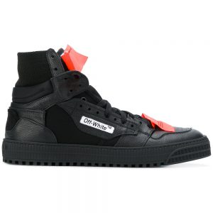 Off-White shoes for men high top black colour fake