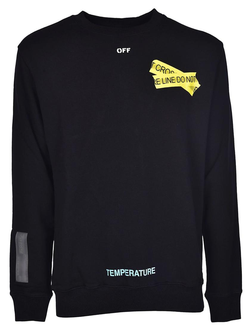 Off-White Fire Tape Sweatshirt black sweater