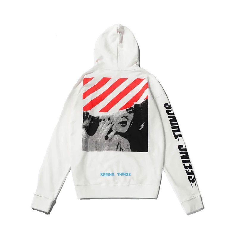 OFF WHITE Marilyn Monroe Printed Winter Hoodies for Men and Women