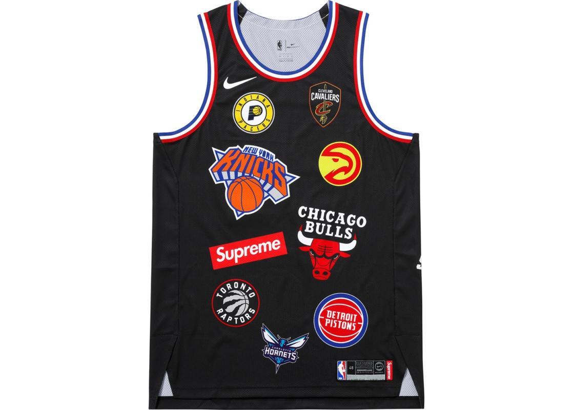 Supreme Supreme Nike NBA Teams Authentic Jersey black tee