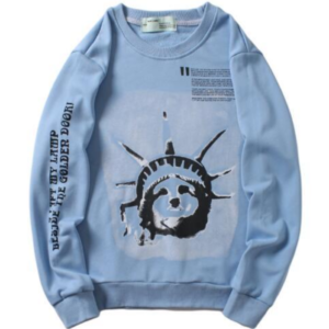 OFF-WHITE STATUE OF LIBERTY SWEATER - light blue