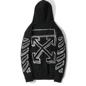 OFF-WHITE HOODIE with black arrows Best Replica