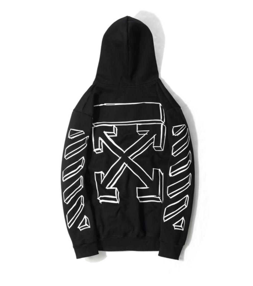 off White Hoodie OFF-WHITE HOODIE with black arrows Best Replica