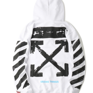 OFF-WHITE HOODIE white with black arrows
