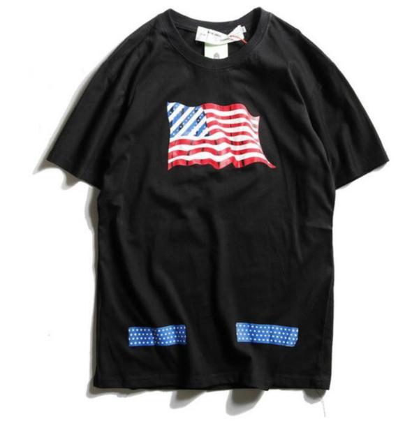 OFF-WHITE T-SHIRT black AMERICAN FLAG