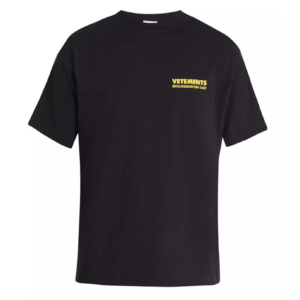 VETEMENTS Black T-SHIRT Best Replica