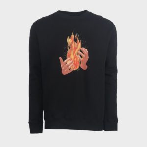 OFF-WHITE - FLAMES black sweater