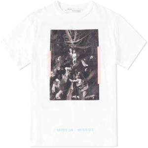 off white caravaggio t shirt white print