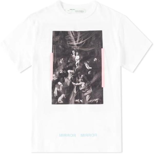 off white caravaggio t shirt white print