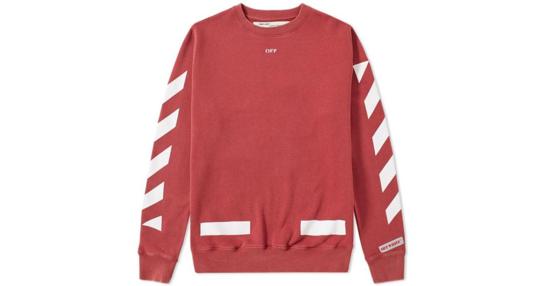 e1d1623e6097 off white co virgil abloh - red sweater with white lines
