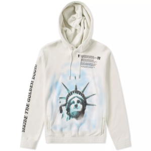 STATUE OF LIBERTY HOODIE Off-white hood