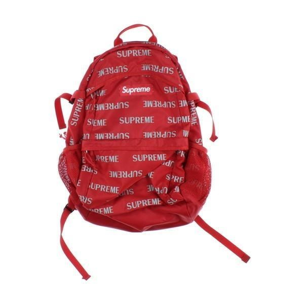 48aa9e38298 upreme backpack red with lots of supreme logos