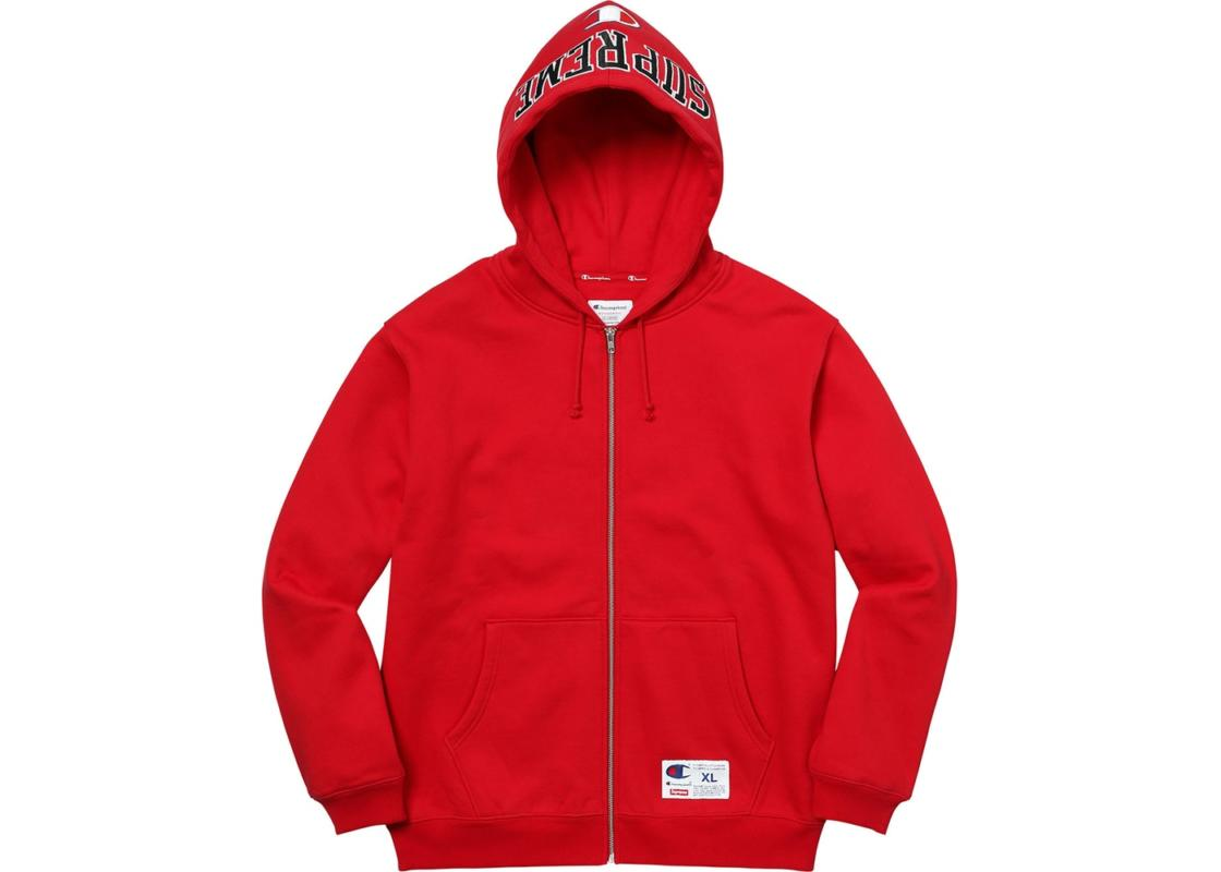 supreme x champion hoodie